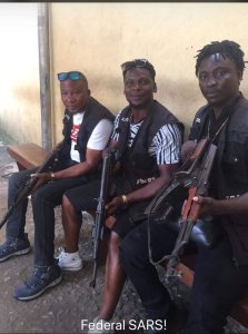 Check out photo of SARS operatives that Nigerians are talking about (Photo)