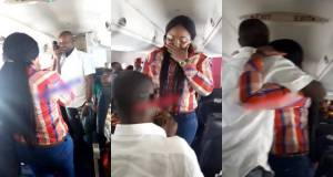 Man proposes to his girlfriend during a flight from Warri to Lagos (Photos)