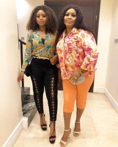 Actress, Regina Daniels And Her Mother, Take A Photo Together