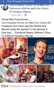 Nigerian Man Names His Son After Zuckerberg Because He Met His Wife On Facebook (Photo)