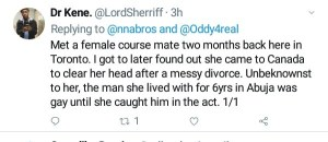 Nigerian Man Abandons His Wife And Two Kids As He Elopes With His Gay Lover