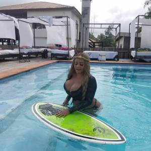 """Endowed Celebrity, Cossy Orjiakor Flaunts Her """"Goodies"""" To Wish Her Fans Happy New Month (Photos)"""