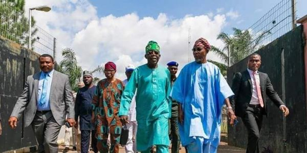 , Aregbesola Hugs And Welcomes Tinubu To Osun Ahead Of APC Flag Off, Effiezy - Top Nigerian News & Entertainment Website