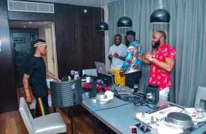 Kcee In The Studio With Wizkid As They Set To Release A New Song (Photos)