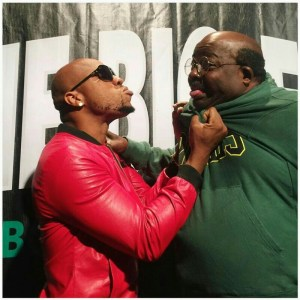 See As Charles Okocha strangles Papa Ajasco (Photo)