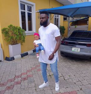 Nigerian Tailor, Yomi Casual Poses With His Cute Daughter In Matching Outfit (Photo)