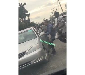 Chinese Man Punches Nigerian Man Who Bashed His Car In Lagos. (Video)