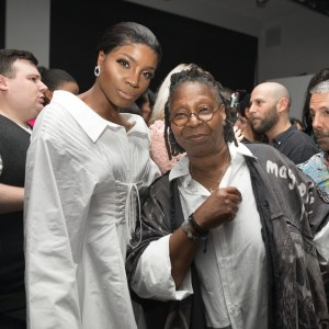 Singer, Seyi Shay Meets Veteran Actress, Whoopi Goldberg (Photos)