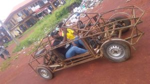 """Check Out This """"Customized Vehicle"""" A Student Brought to School In Enugu (Photos)"""