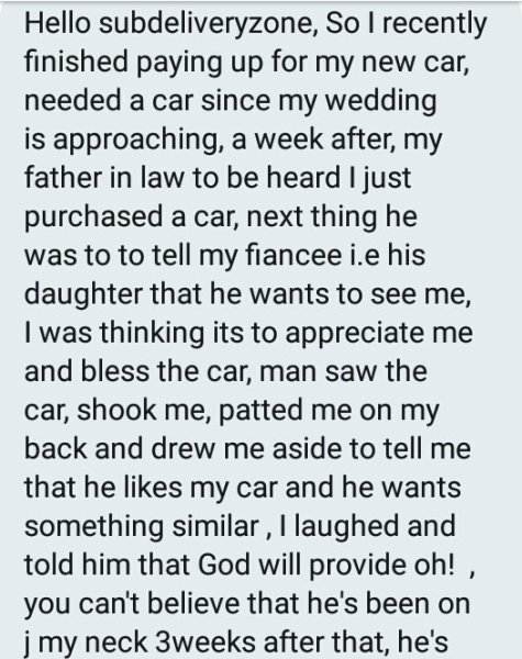 , Nigerian Man Demands Car From Son-in-law Ahead Of Wedding, Daughter Supports Father, Effiezy - Top Nigerian News & Entertainment Website
