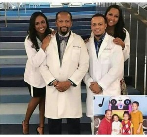 Father With His 3 Children That Are Also Medical Doctors Like Himself. (PHOTO)