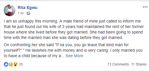 , Man Heartbroken After Wife Revealed Why She Cheated On Him With Married Man., Effiezy - Top Nigerian News & Entertainment Website