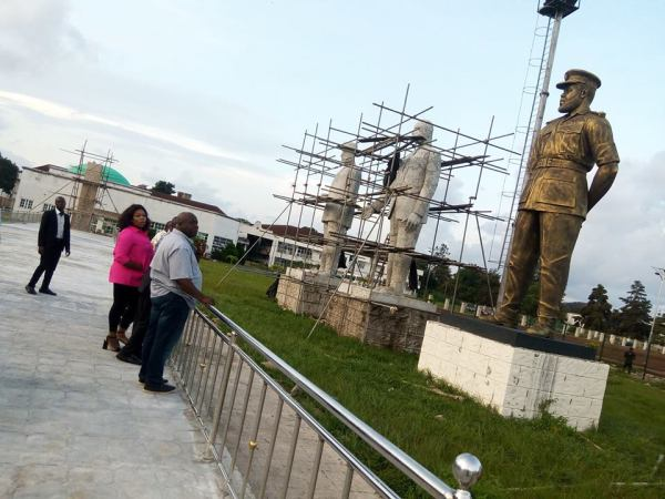 , Rochas Okorocha & His Daughters Inspect Statues In Imo (Photos), Effiezy - Top Nigerian News & Entertainment Website