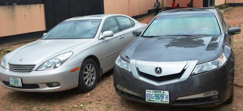 , See the cars recovered from this Yahoo Boy caught by EFCC (Photo), Effiezy - Top Nigerian News & Entertainment Website