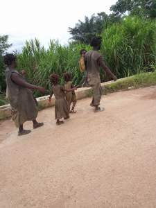 Father, Wife And Their 3 Kids Plagued With Madness In Ogoja, Cross River (Photos)