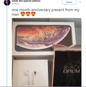 , Boyfriend Buys Iphone X For Girlfriend Just 1 Month After They Started Dating (Photos), Effiezy - Top Nigerian News & Entertainment Website