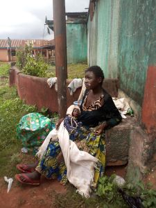 Woman Banished From Community Over Witchcraft, Gives Birth On The Road. (Photos)
