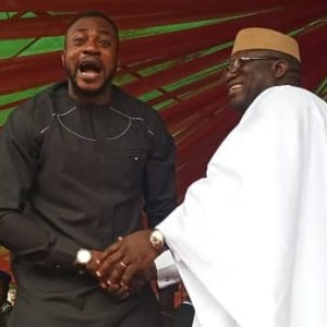 Actor, Odunlade Adekola And Governor Kayode Fayemi In A Funny Photo