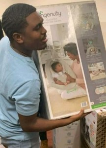 Single Man Throws Himself A Baby Shower As He Awaits The Birth Of His Son (Photos)