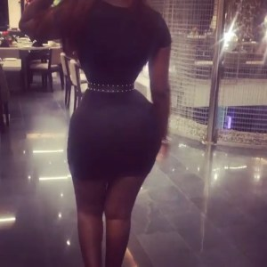 Check out this lady with a very tiny waist; See Reactions (Photo)
