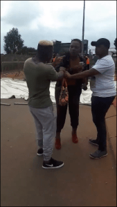 Drama As Man Tries To Drag Girlfriend Home After Seeing Her With Another Guy (Video)