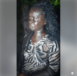Fake mad woman caught picking used sanitary pads, makes shocking confessions (Photos)