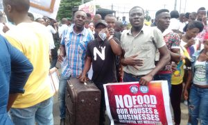 Police, flood victims clash during protest in Rivers