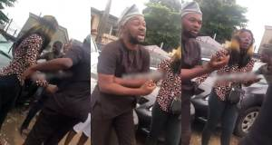 Prostitute disgraces man for not paying after sex romp in Ajao Estate, Lagos (Video)