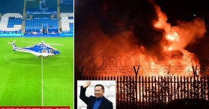 TRAGIC: Leicester City owner, Vichai 'on board crashed helicopter' outside King Power Stadium