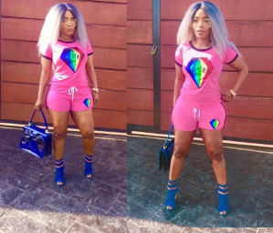 Actress, Halima Abubakar Shows Off Her Incredibly Trimmed Figure In Bum Short (Photos)