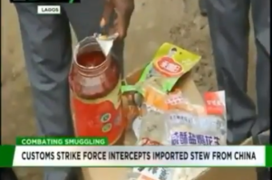 Customs intercepts imported stew from China (Photos & Video)