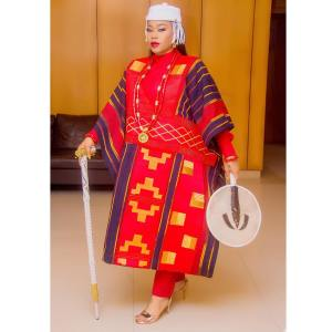 #KABIYESI: Toyin Lawani Steps Out As A King To The Movie Premier Of Chief Daddy (Photos)