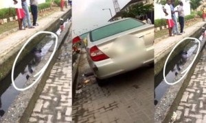 Man Murdered And Dumped In Gutter In Lekki (Photos)
