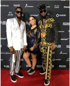 D'banj, His Wife Lineo & Swanky Jerry At The Global Citizen Festival