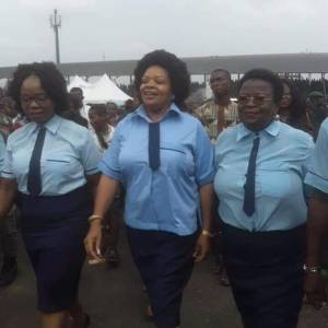 Check Out Governor Rochas Okorocha's Wife, Nneoma In Secondary School Uniform (PHOTOS)