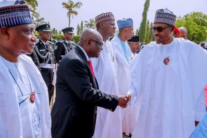 See President Buhari And CJN Walter Onnoghen At Armed Forces Remembrance Day #ArmedForcesRemembranceDay