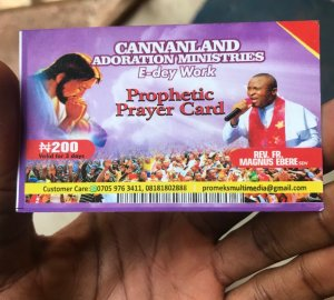 , Check Out Heavenly Subscription Cards Sold To Church Members (Photos), Effiezy - Top Nigerian News & Entertainment Website