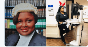 NICE!! See Nigerian Lady Who Is Lawyer & Is Now Training As A Medical Doctor (Photos)