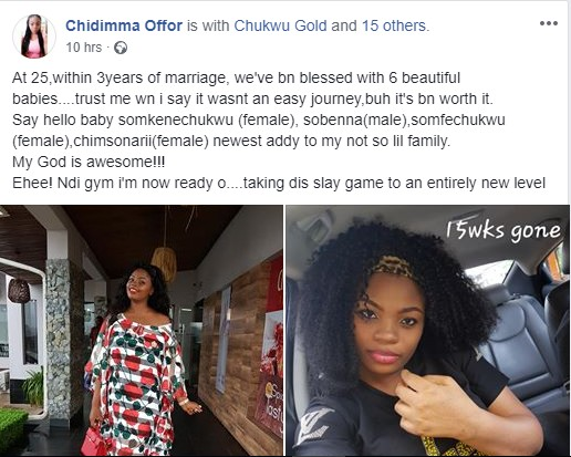 , 25-Year-Old Lady Gives Birth To Six Babies Within 3 Years Of Marriage. (Photos), Effiezy - Top Nigerian News & Entertainment Website