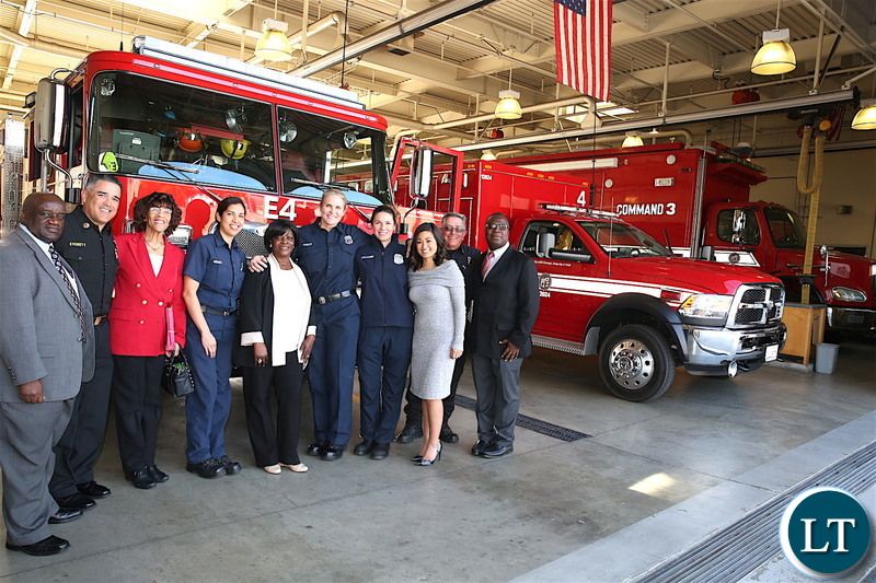 , Zambian Fisrt Lady With 24 People Travel To US To Receive Four Fire Trucks (Photos), Effiezy - Top Nigerian News & Entertainment Website