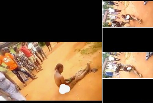 , Lady Stripped Unclad And Paraded For Insulting Politician In Delta . (Photos), Effiezy - Top Nigerian News & Entertainment Website