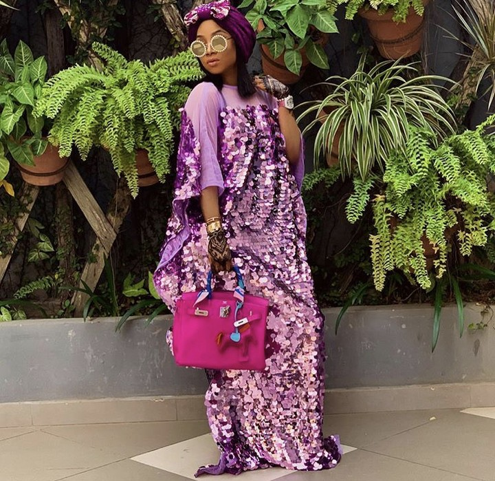 , OAP Toke Makinwa Stuns In Purple Outfit (Photos), Effiezy - Top Nigerian News & Entertainment Website