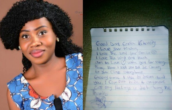 , Female Corper Shares Love Letter She Received From A JSS2 Student, Effiezy - Top Nigerian News & Entertainment Website