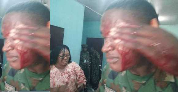 , Mother cuts a military teacher with a machete for flogging her child, Effiezy - Top Nigerian News & Entertainment Website
