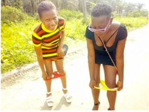 Slay queens reportedly pull down their pants to mock Yahoo boys