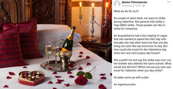 , See how Nigerian lady deceived her parents so she could travel to be with her boyfriend on Valentine's Day, Effiezy - Top Nigerian News & Entertainment Website