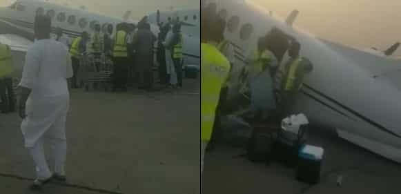 Private Jet Overloaded With Bags of Cash Collapses (Video)