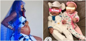 """""""Being a mother isn't easy""""- Emma Nyra says as she shares picture of her twins at 6 Months"""