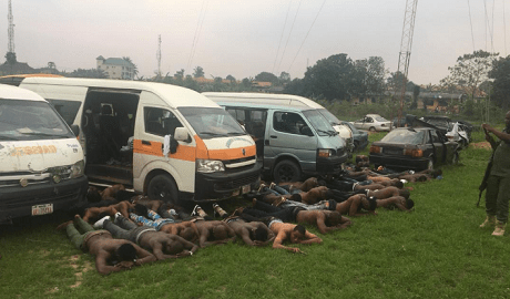 Political thugs, #Election: Busloads Of Thugs Intercepted Along Obot-Akara-Abia Road Enroute Akwa-Ibom State (Photos), Effiezy - Top Nigerian News & Entertainment Website