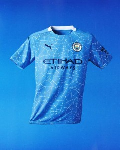 Manchester City's unveil it's new jersey.
